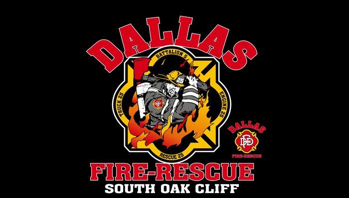 Dallas fire department t shirts custom design for Fire department tee shirt designs