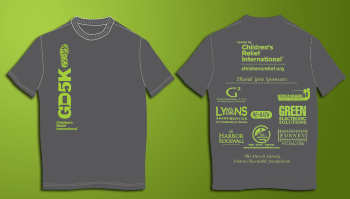 Green door 5k rockwall race shirts custom t shirts for Sponsor t shirt design