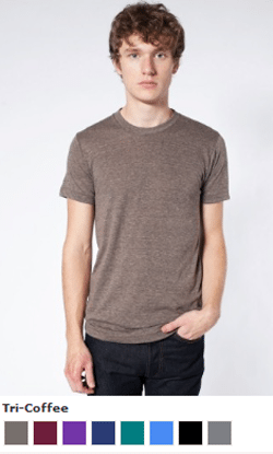 American Apparel Shirts Available