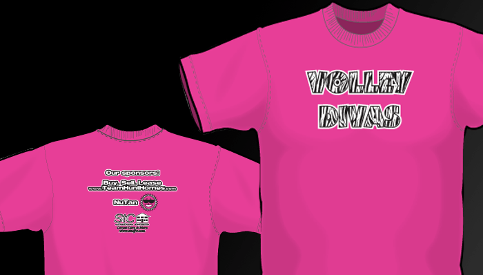 VolleyDiva Volleyball T-Shirts