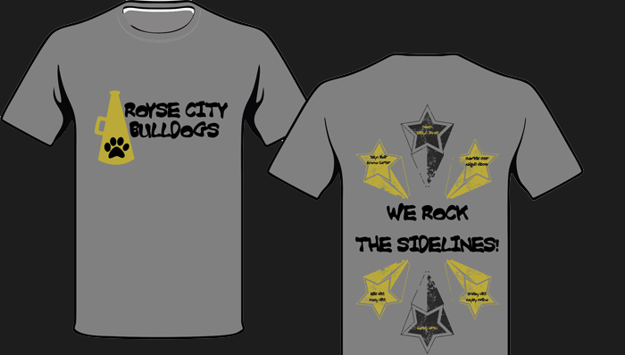 Royse City Bulldog Cheer T-Shirts