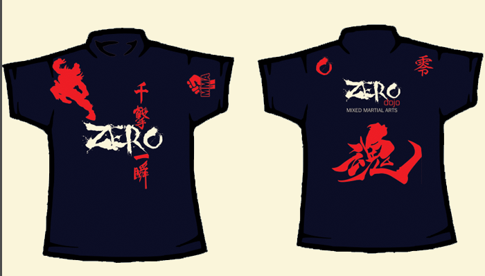Custom Fight T-Shirt Zero Dojo